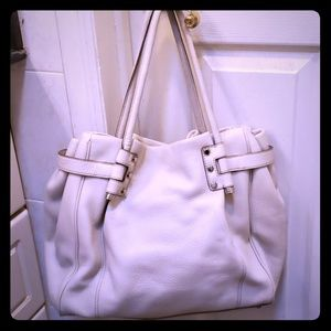 Banana republic Gray leather tote and wallet
